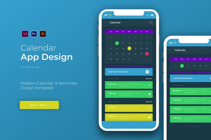 Thumbnail for Calender Remin | App Template