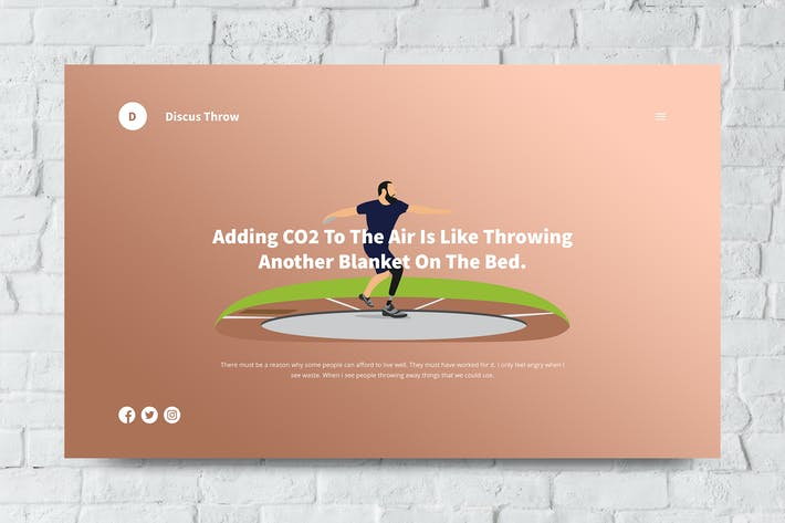 Thumbnail for Discus Throw Web Header PSD and Vector Template