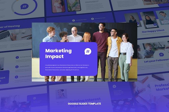 Thumbnail for Socia - Цифровой маркетинг Google Слайды Шаблон