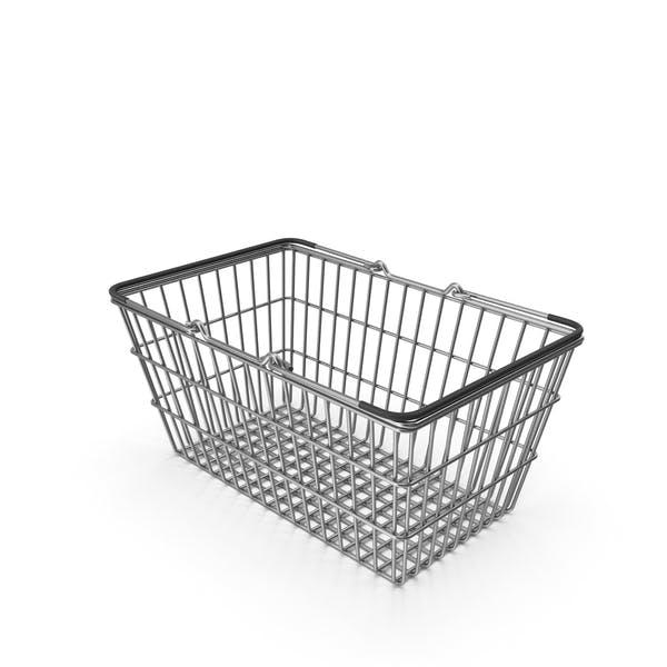 Supermarket Basket with Black Plastic