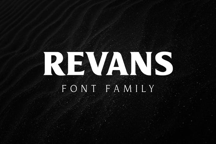 Thumbnail for Revans Font Famil