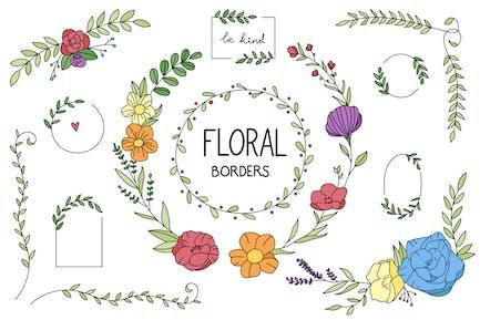 Flower Frame Hand Drawn