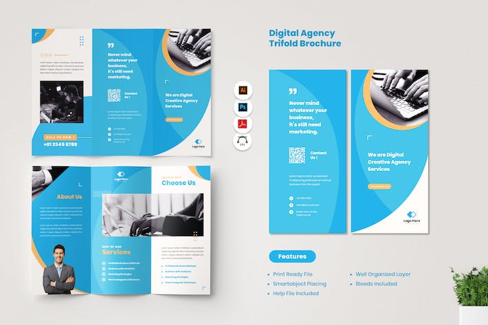 Digital Agency Brochure Trifold