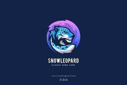 Snow Leopard Mascot Logo