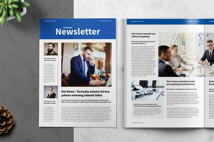 Thumbnail for Corporate Newsletter Template