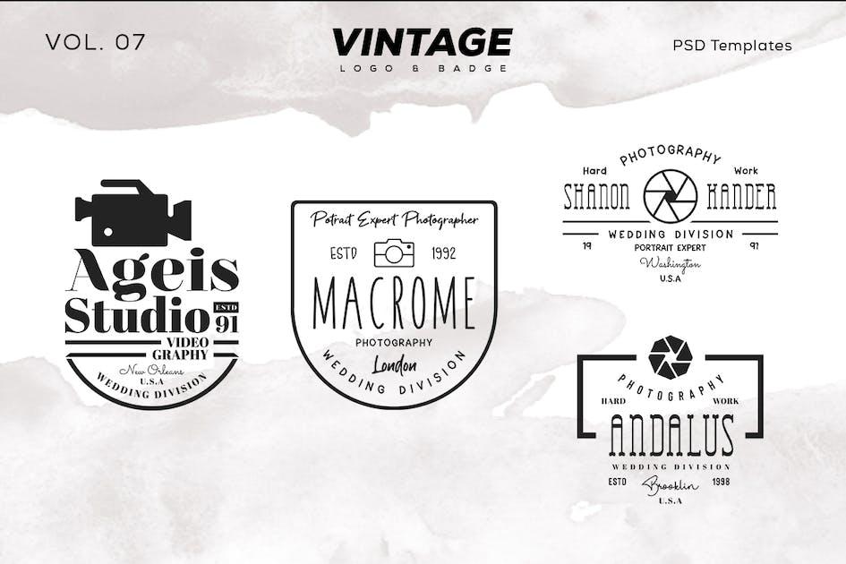 Download Vintage Logo & Badge Vol. 7 by sagesmask