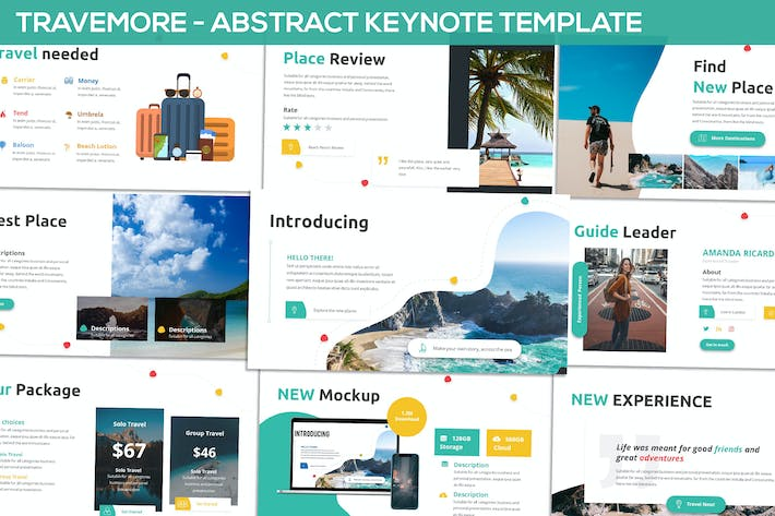 Thumbnail for Travemore - Abstract Keynote Template