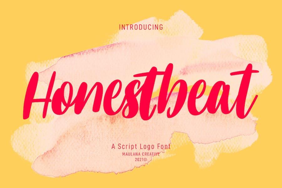Honestbeat Handwritten Script Font