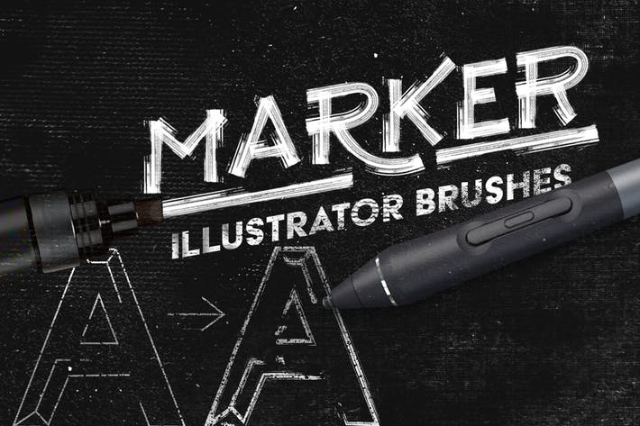 Thumbnail for Marker Illustrator Brushes