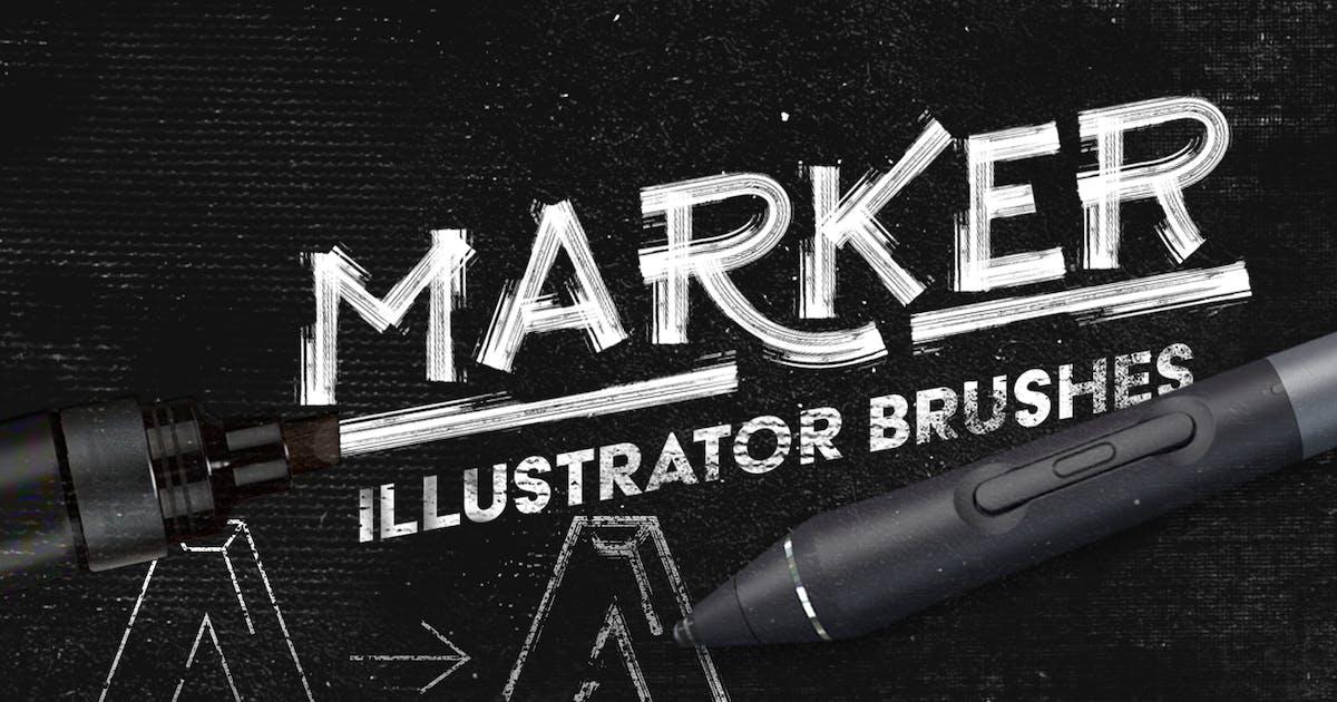 Download Marker Illustrator Brushes by LeoSupply
