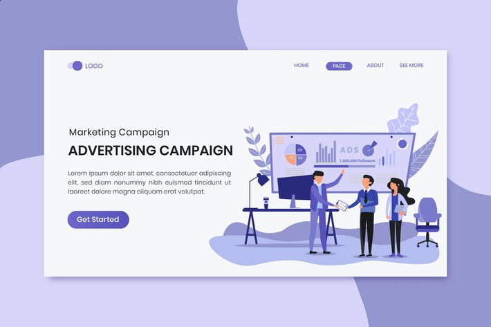Thumbnail for Advertising Campaign Marketing Landing Page