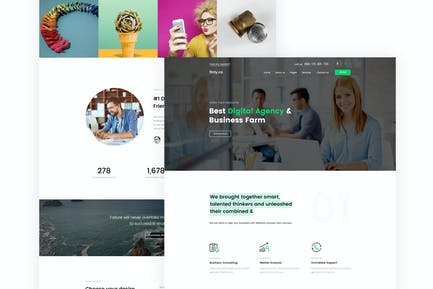 finly.co - Business & Digital Agency PSD Template