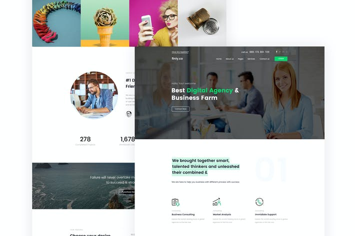 Thumbnail for finly.co - Business & Digital Agency PSD Template