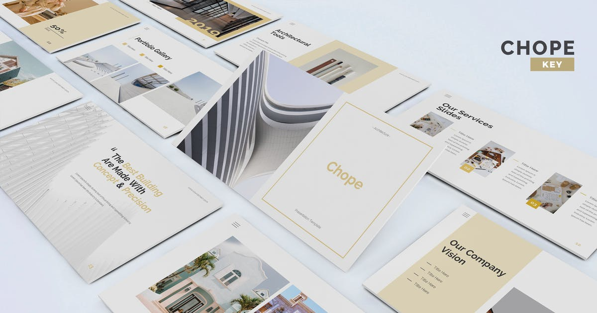 Download Chope - Architecture Keynote Template by UnicodeID