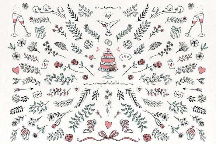 Hand Drawn Wedding Florals