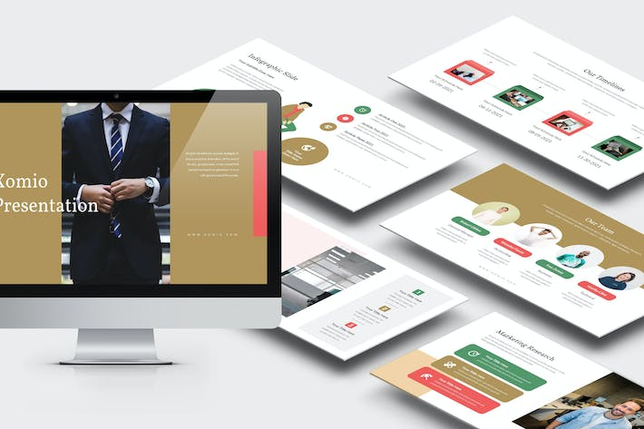 Thumbnail for Xomio : Business Report Powerpoint
