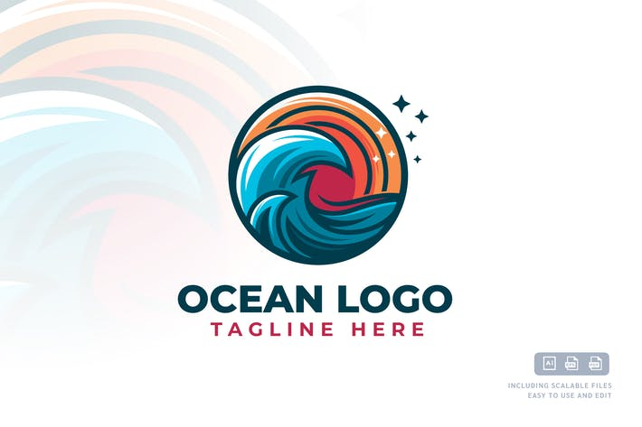 Thumbnail for Ocean - Logo Design Template