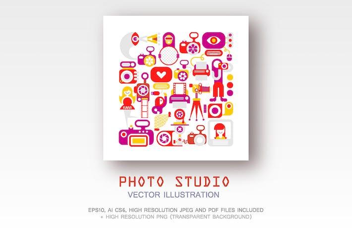 Cover Image For Photo Studio vector illustration