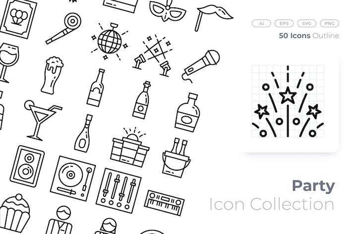 Thumbnail for Party Outline Icon