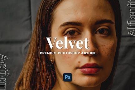 Velvet Photoshop Action