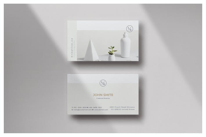 Cover Image For Minimal Business Card - Vol.17