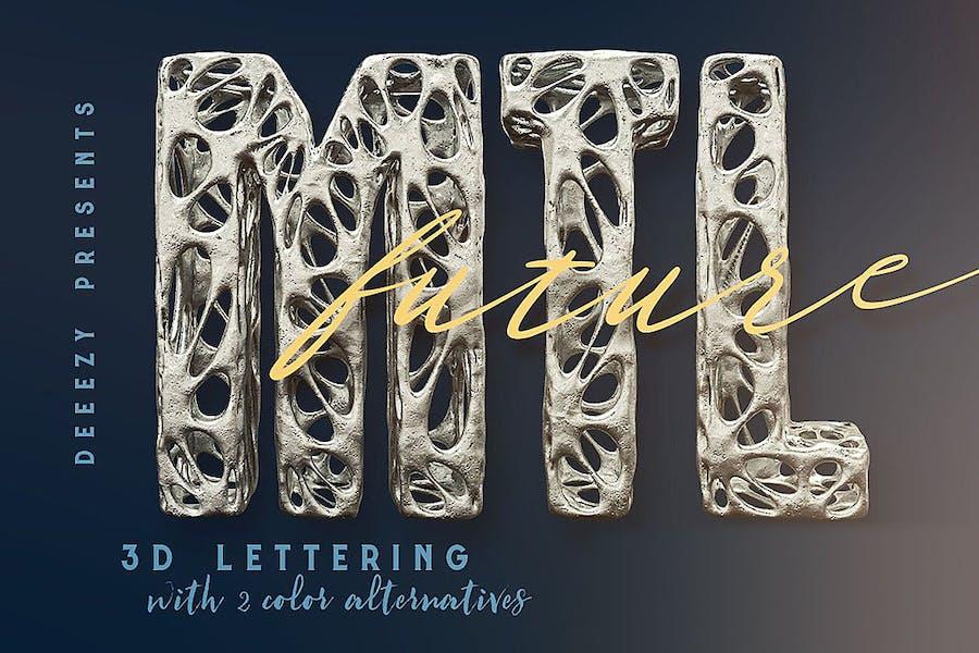 Future Metal – 3D Lettering