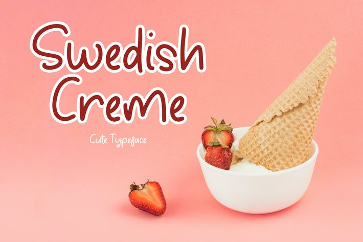 Thumbnail for Swedish Creme Cute Tipo de letra
