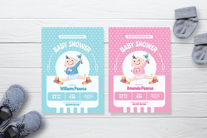 Thumbnail for Einfaches Baby Spielplatz - Babyparty-Einladung