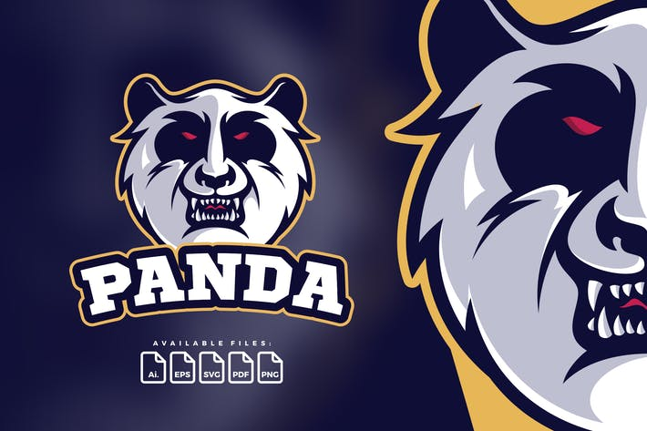 Thumbnail for Logo Head Of Angry Panda