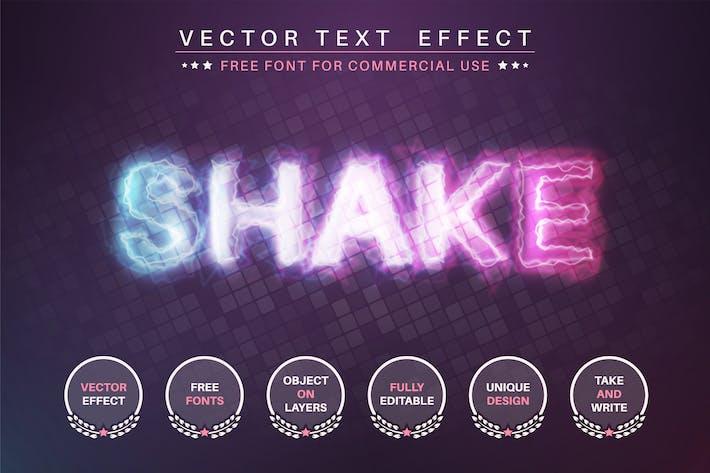 Shake lightning - редактируемый текстовый эффект, стиль шрифта