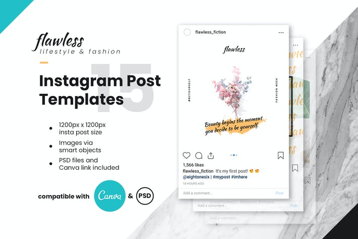Thumbnail for Flawless Instagram Post Template