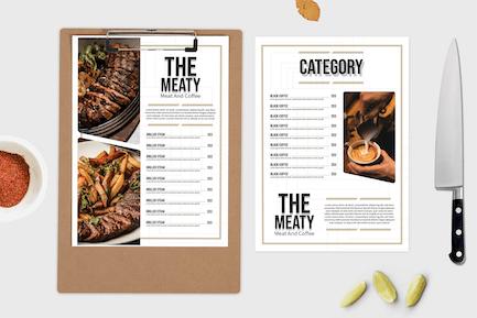 Steakhaus — Speisekarte Vorlage