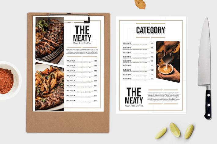 Steak House – Food Menu Template