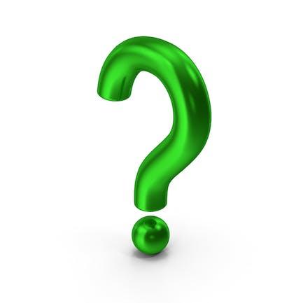 Question Mark Green Metallic