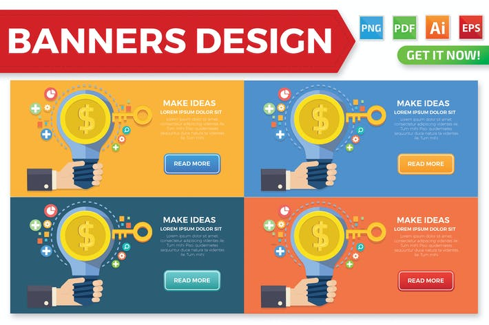 Thumbnail for Make Ideas banners design