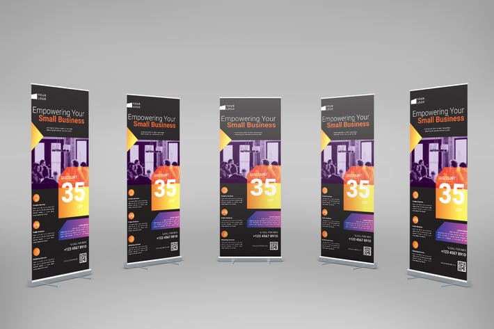 Thumbnail for Startup Business - Roll-Up Banner