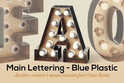 Marquee Light Bulbs Chaos 14 - Rusty Letters