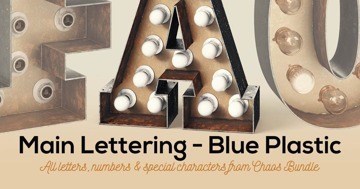 Download Marquee Light Bulbs Chaos 14 - Rusty Letters by cruzine