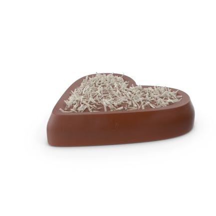 Heart Chocolate Candy with Coconut