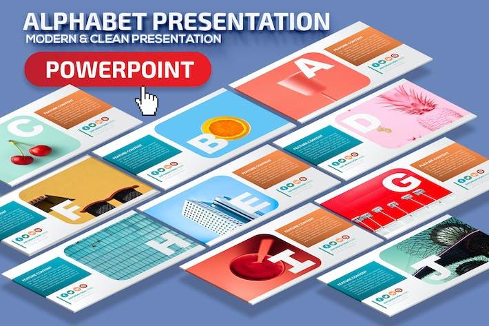 Thumbnail for Alphabet Powerpoint Presentation Template