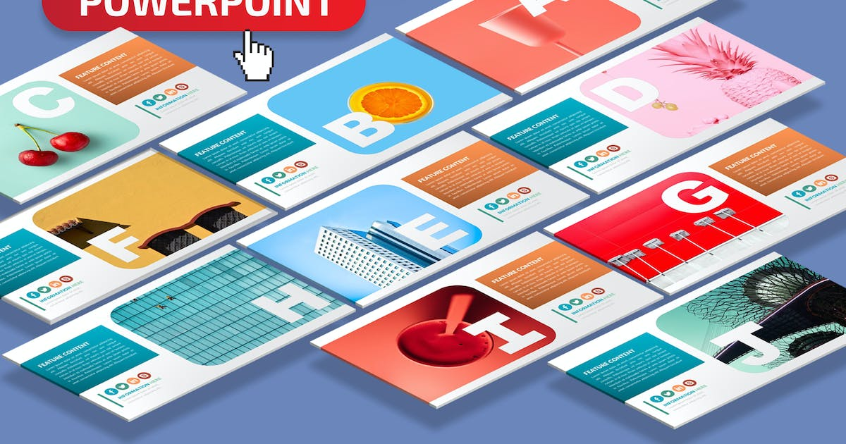 Download Alphabet Powerpoint Presentation Template by mamanamsai