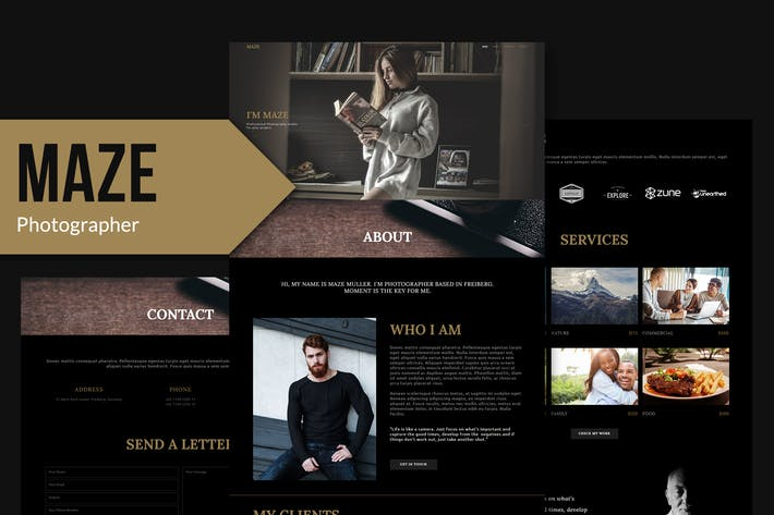 Thumbnail for MAZE - Photography Portfolio Muse Template YR