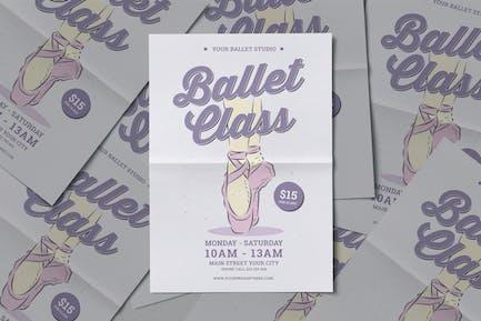Ballettklasse-Flyer