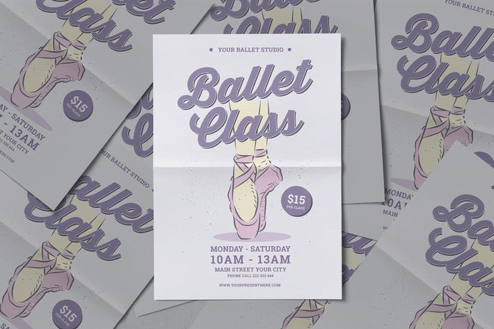 Flyer de classe de ballet