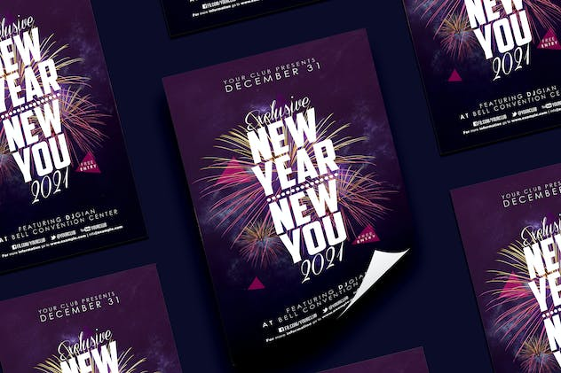 New Year Party Flyer - product preview 0