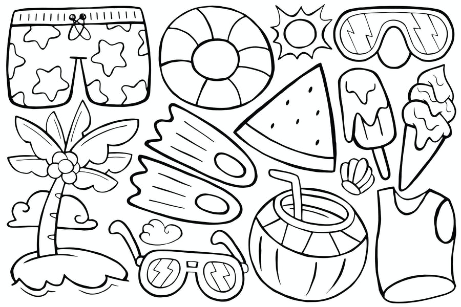 Summer Doodle in Cartoon Style #01