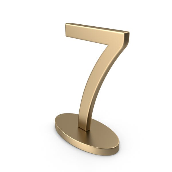 Table Numbers Sign 7