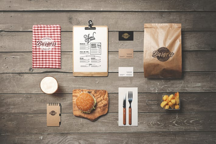 Thumbnail for Burger Diner Branding Mockup