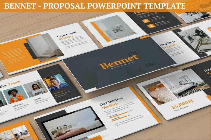 Thumbnail for Bennet - Proposal Powerpoint Template
