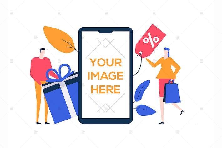 Thumbnail for Sale - flat design style colorful illustration